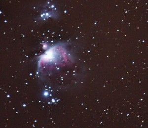 For example, this picture of the Orion Nebula was a three minute exposure.