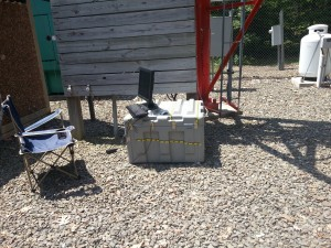 Equipment enclosure at NY Site