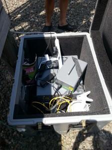 Equipment setup at NY Site
