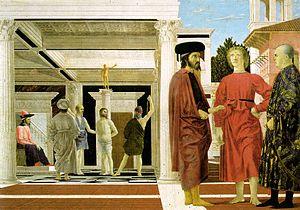 Scene of Christ at the Column, Piero della Francesca