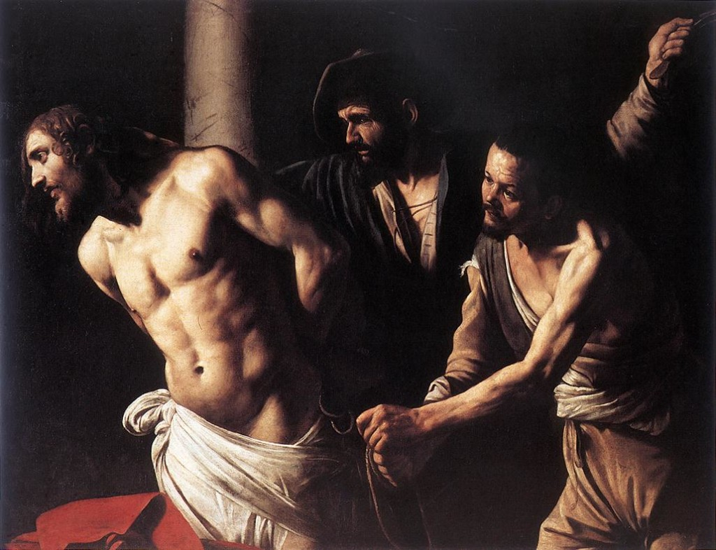 Caravaggio, Christ being tied to the column