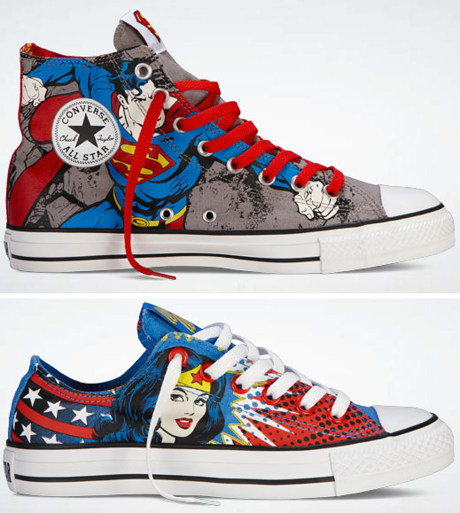 543e879e26a5 Comic themed Converse on low and high rise sneakers (photo credit   www.co2comics