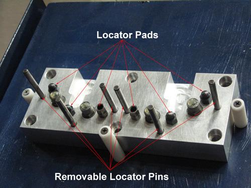 Figure 5. Locators used to Register the Workpieces