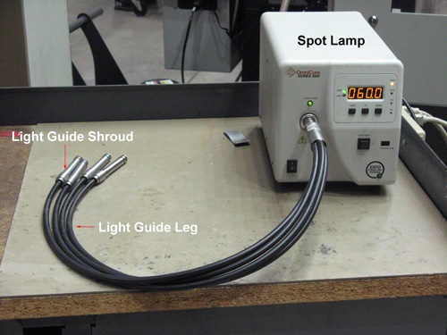 Figure 7. Spot Lamp and 4 X 3mm Light Guide