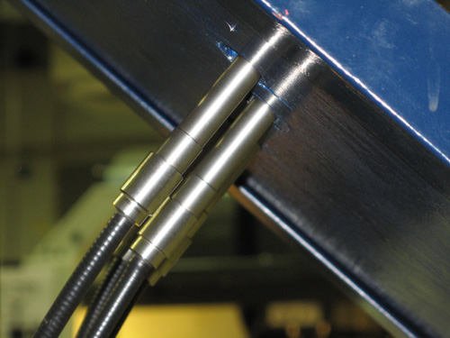 Figure 8. Light Guide Legs Positioned Against the Back Side of the Grippers