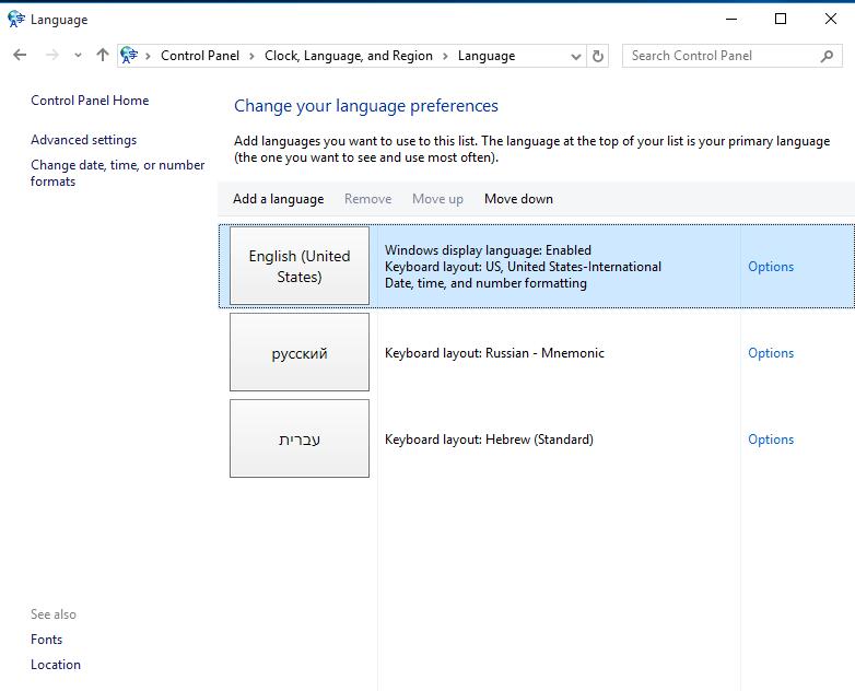 Symbol Codes Non English Keyboards Windows 10