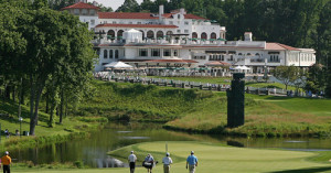 18th hole at Congressional Country Club. http://congressional-country-club-blue.coursesofamerica.com/