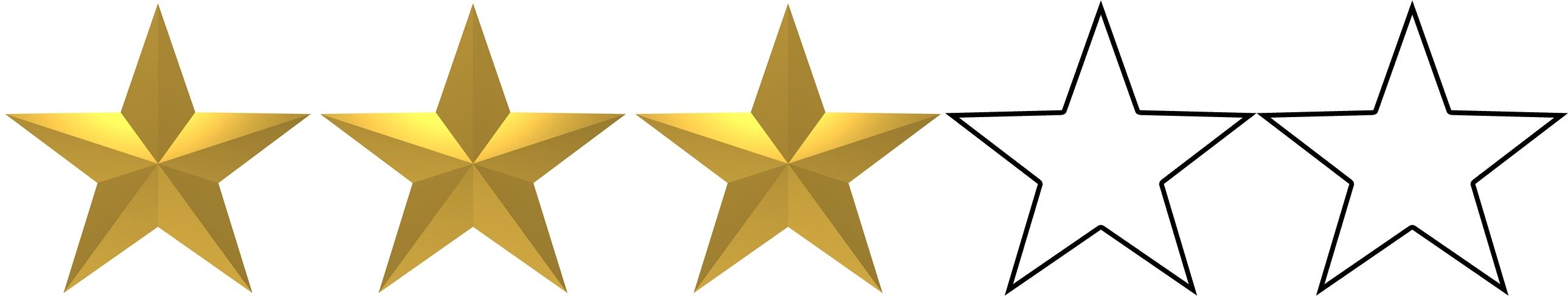 Risultati immagini per 3 stars out of 5