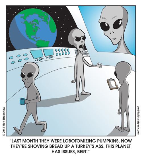 Aliens on Human Life Pic