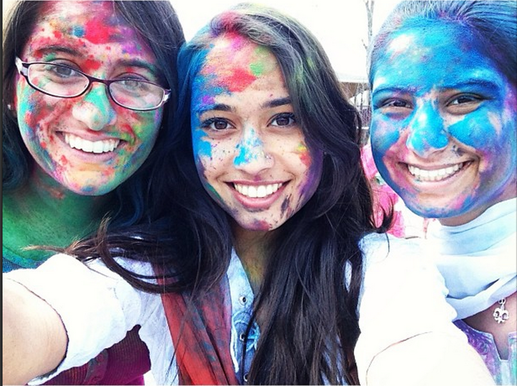 Holi in America with my good friends. I miss you guys!