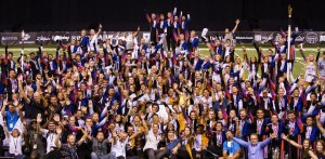 The Blue Devils after their 17th DCI World Championship victory