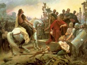 Caesar conquering Gauls
