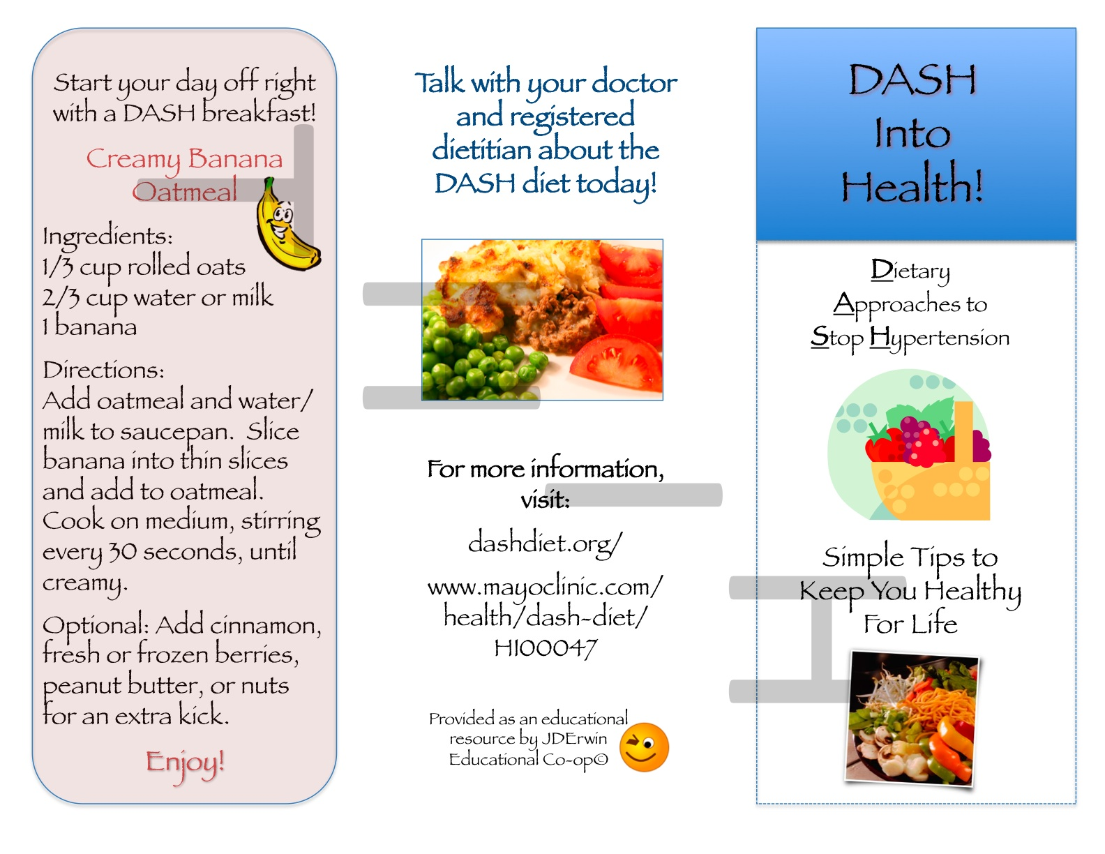 Dash Diet Brochure Nutr 360