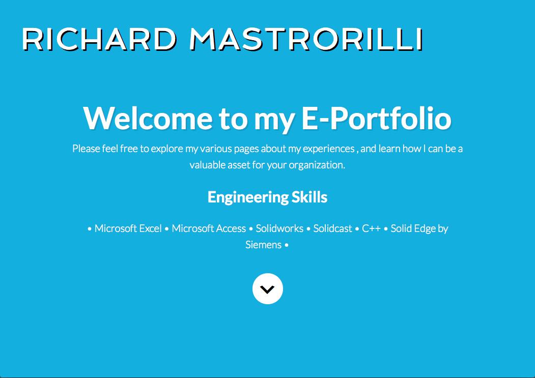 Richard Mastrorilli E-Portfolio