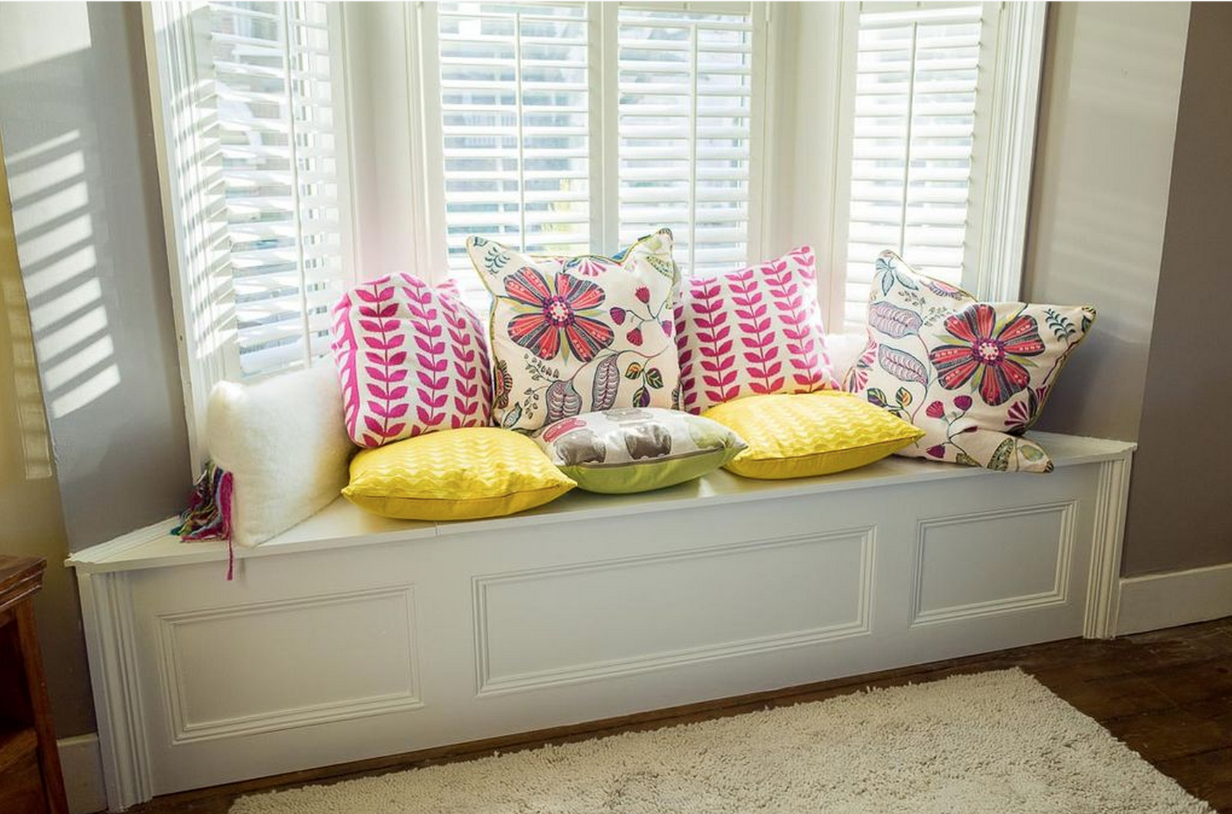 Diy Bay Window Bench Diy Projects By Molly