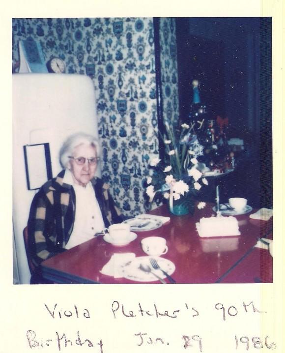 P Pic Viola's 90th BD 1986
