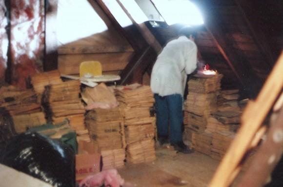 Q Pic 1987 Wayne Co News Eagle Office attic April 9 1987