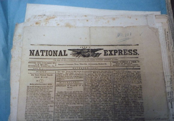 T Pic 1987 Wayne Co His Soc only known copy of Pete's National Express issue