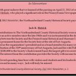 Capture Vault Memoriam for Jack H