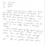 Vault Ltr Becky to Jack Oct 17 1986