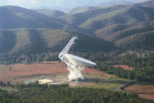 The Green bank 100m telescope, the largest steerable telescope in the world.