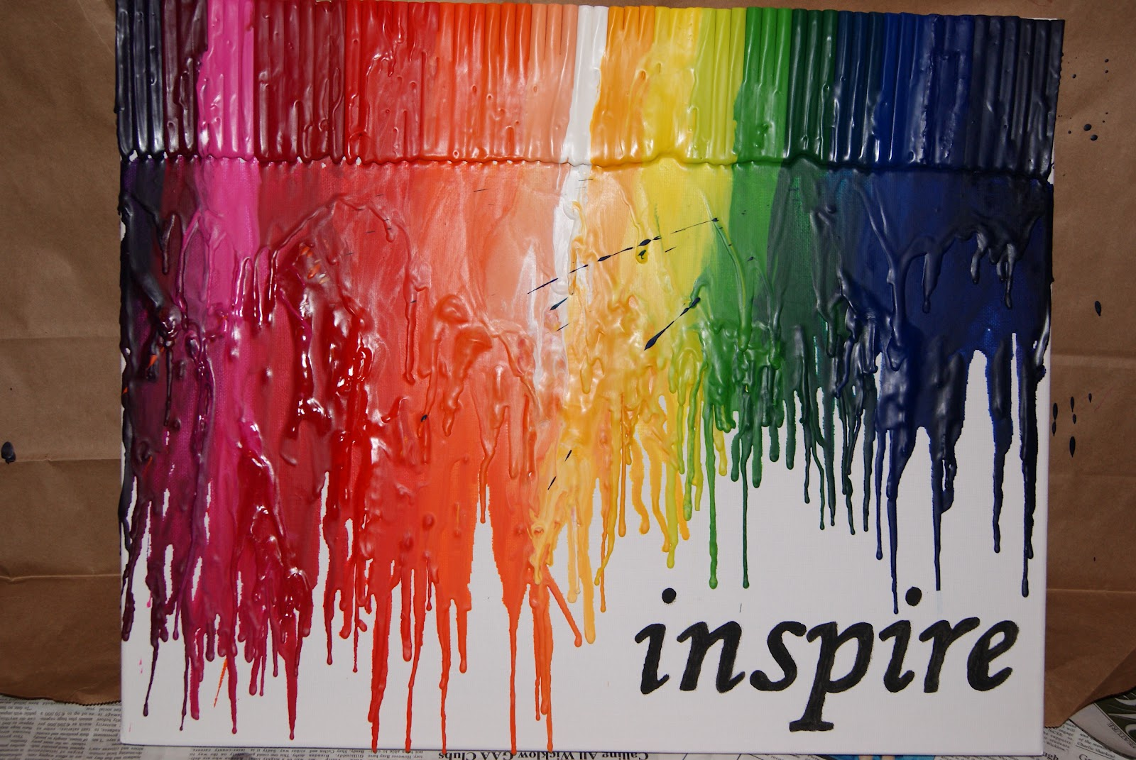 Crayon Art An Easy Craft