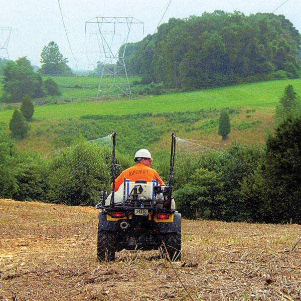 Mowing and cut stubble treatment application