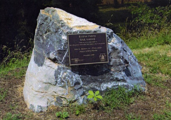 Oak Grove Plaque