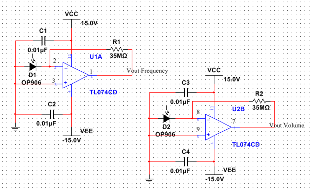 accomplishments kyle sibert rh sites psu edu Moog Theremin Schematic Synthesizer Theremin Circuit Diagram