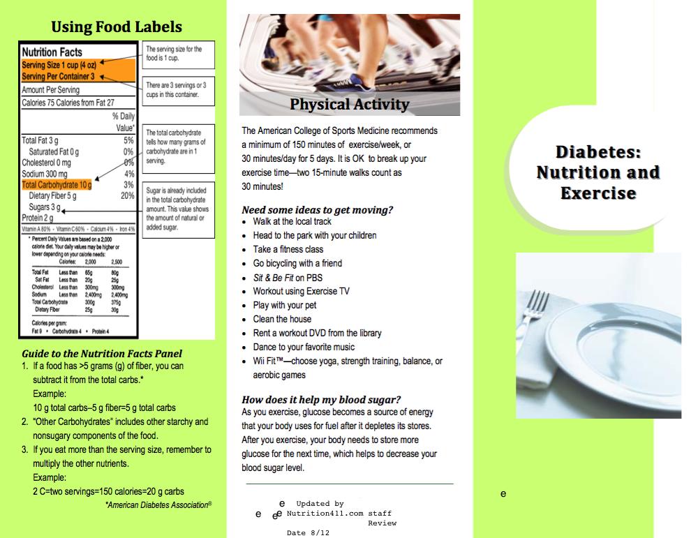 diabetes brochure review