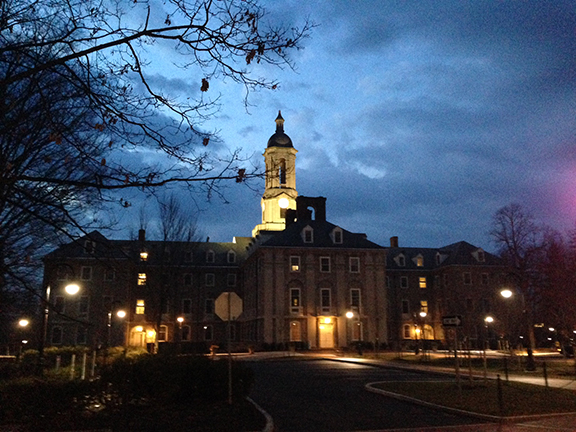 Old Main at dawn
