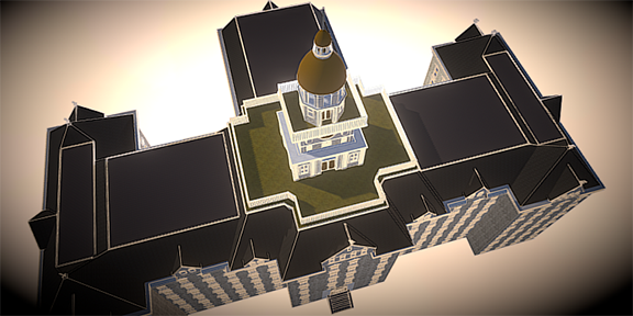 3-D image of Old Main