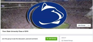 Photo taken from Penn State Class of 2019 Facebook page
