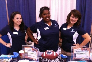 My first major college fair in Atlantic City, NJ freshman year with Michelle (l) and Sarah (r).