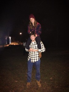 flannels all around at hayride!