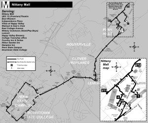 m bus map