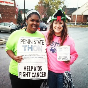Hannah and I during the first Canning Weekend of the year.