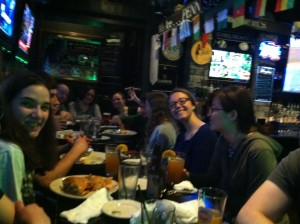 Part of the crew at happy hour