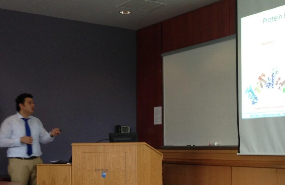 Halil was giving his PhD thesis defense talk