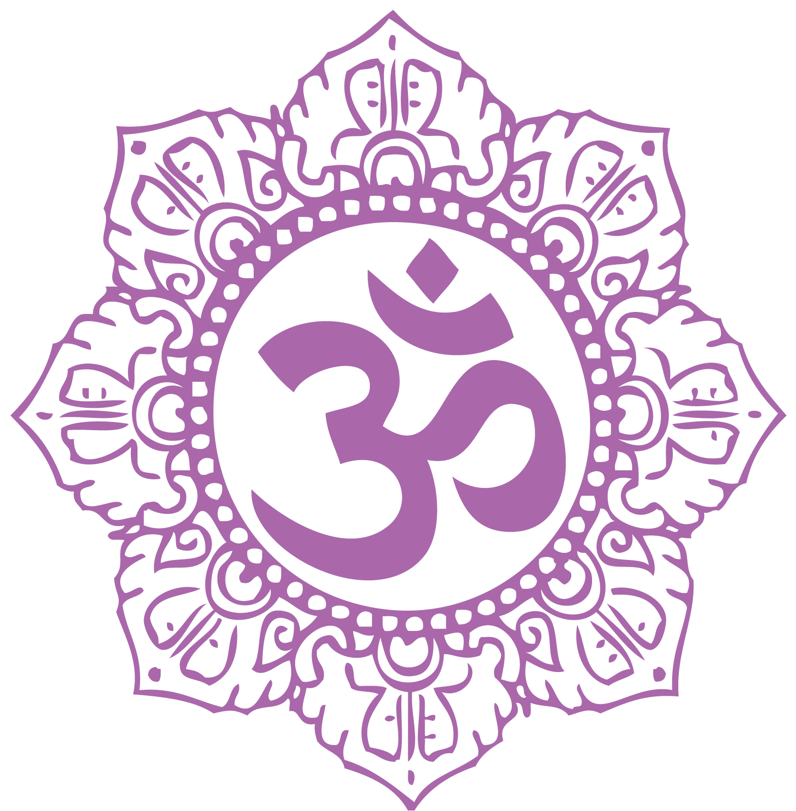 Om Symbol Purple Hatha Yoga