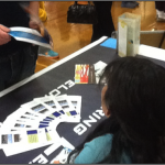 ENGR 493 student hand out ELDM brochures at recent Science Night event in Bellefonte, Pa.