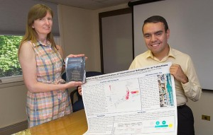 Luis Ocampo was named runner-up in the J.D. Williams Student Paper Competition, based on research he performed at Brookhaven National Lab during the summer of 2013.  (Photo Courtesy of Brookhaven National Laboratory)