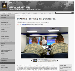 USASMA's Fellowship Program Logs On