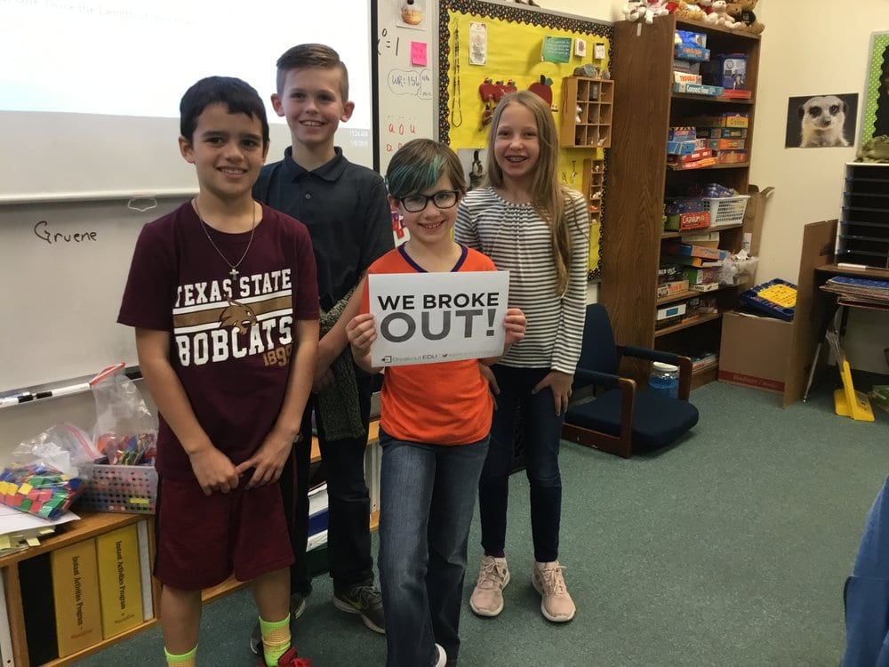 Breakout EDU recognizes Mrs. Risinger's 4th Grade TAG kiddos