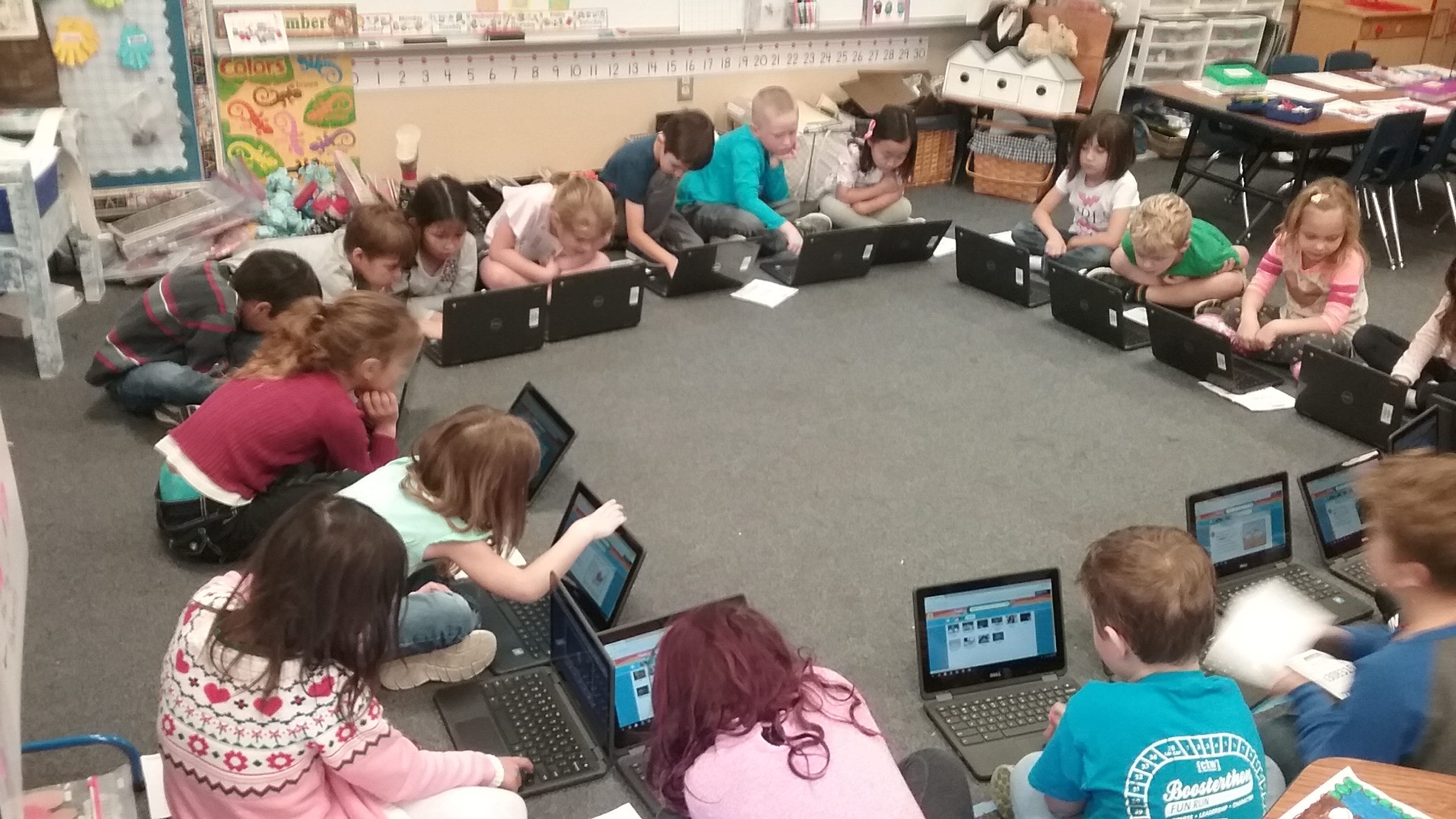 Chromebooks in Kinder