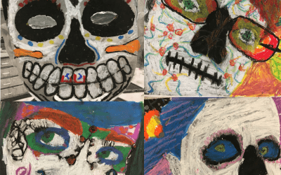 GOES – Sugar Skull Art with iPads and Pastels