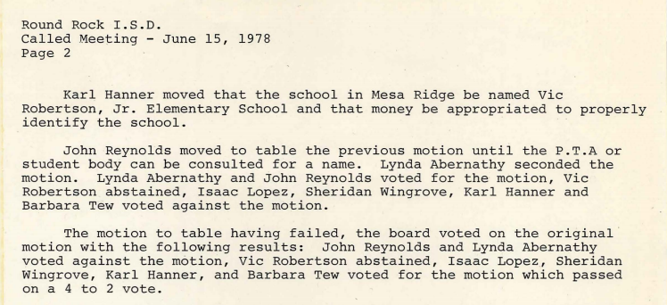 1978-06-15 Vic Robertson Elementary named