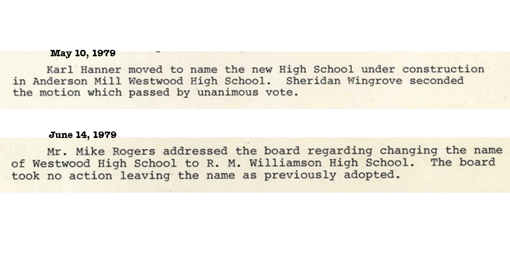 1979-05-10 Westwood High School named