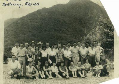 Group shot taken during Senior trip to Mexico, 1954