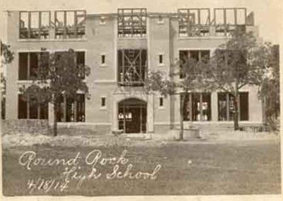 Original Round Rock School under construction 1914